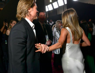 Brad Pitt And Jennifer Aniston Made Contact At The SAG Awards Last Night, And Everyone Is Freaking Out
