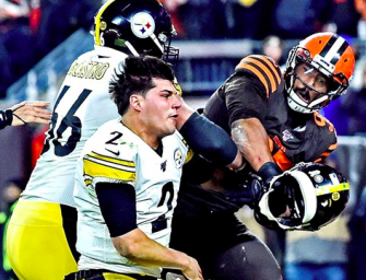 Myles Garrett Claims Steelers QB Mason Rudolph Used Racial Slur Before Brawl