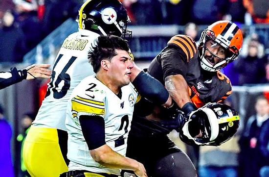 Myles Garrett Claims Steelers QB Mason Rudolph Used Racial Slur Before Brawl