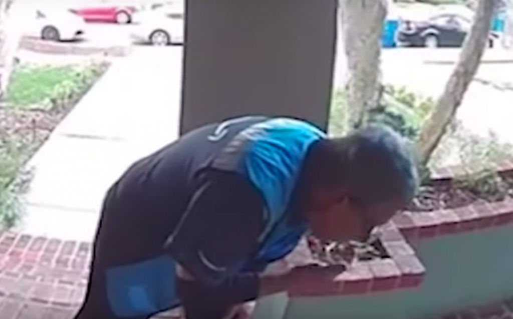 Oh Lawd: Amazon Delivery Guy Spits On Package, Then Smears It In With His Hand, Caught On Ring Cam