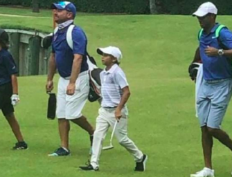 Tiger Woods' 11-Year-Old Son Just Dominated A Junior Golf Tournament In Florida With Tiger Acting As His Caddy