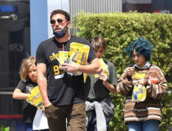 Ben Affleck Is Super Dad, Takes His Kids And Jennifer Lopez's Daughter Out For Fun Day At Universal City Walk