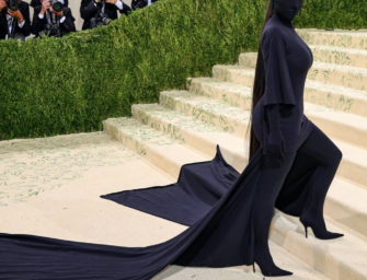 Kim Kardashian Steals The Show At Met Gala With Faceless Outfit, But Was Kanye With Her?